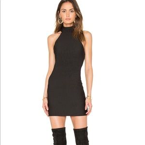 Revolve Forbes Dress in Black Bubble Stretch Motel